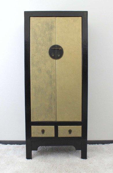 Schwarz-Goldener Hochzeitsschrank - China Schrank
