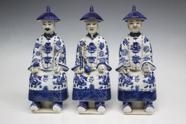 3 Chinesische Kaiser - China Porzellan Figuren