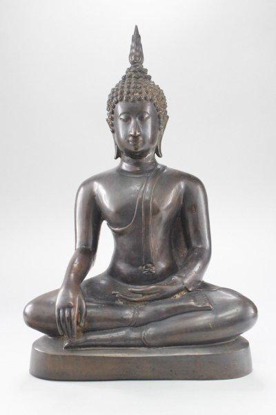 47cm Bronze Buddha Figur, Thailand