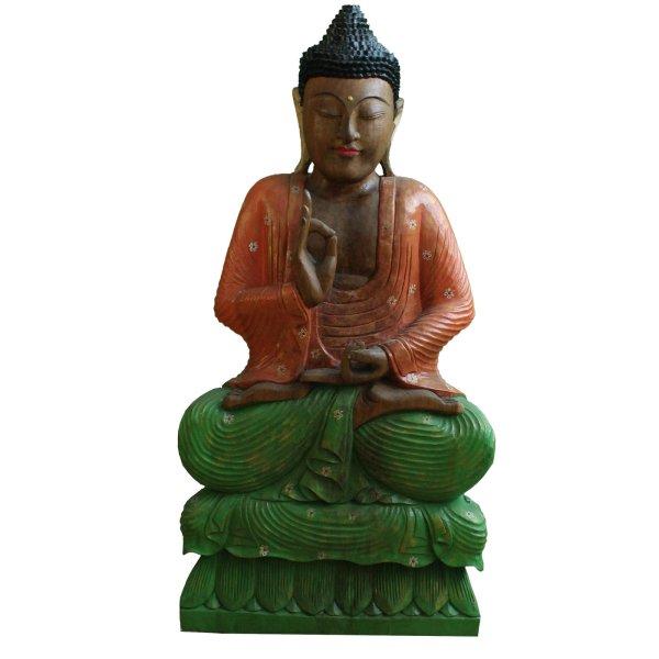 Lehrende Buddha Figur Holz (83cm) Vitarka Mudra