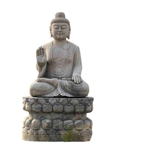 282cm großer Marmor Buddha - Garten Skulptur