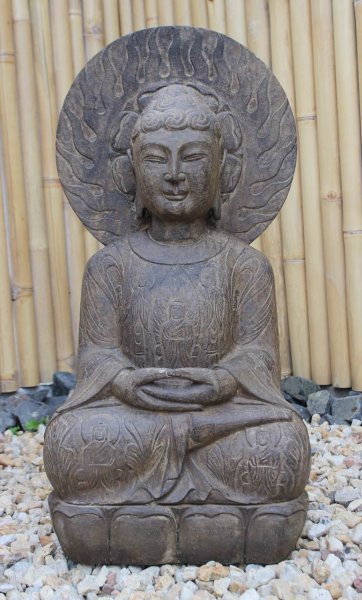 Garten Buddha Statue 76 cm groß - Unikat