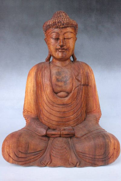 Amitabha Buddha Figur aus Holz