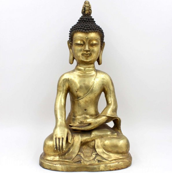 Siddharta Buddha Figur (48,5cm) Shakyamuni Bronze Statue