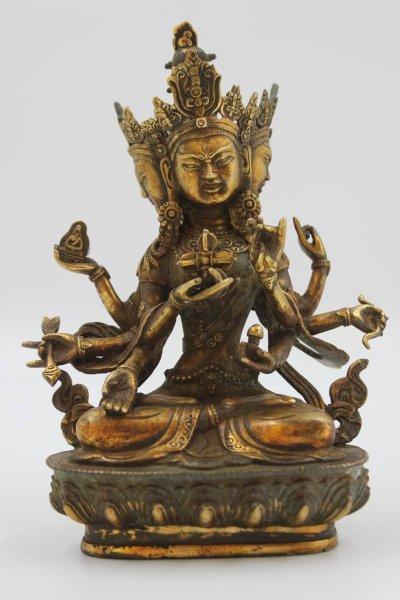 Buddha Figur Unshinisvijaya Namgyalma aus Bronze