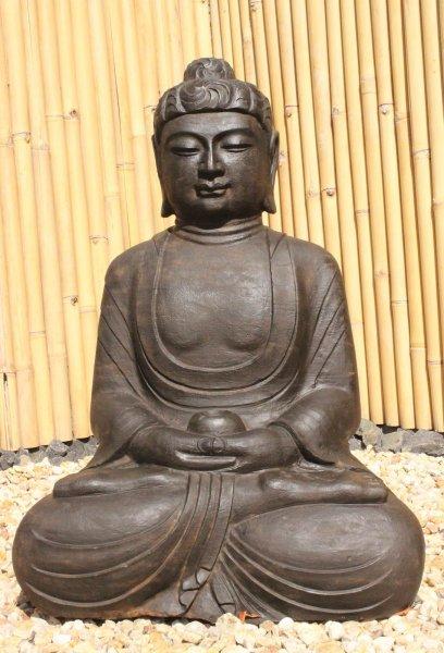 Garten Buddha Statue Amitabha Naturstein - 88cm groß
