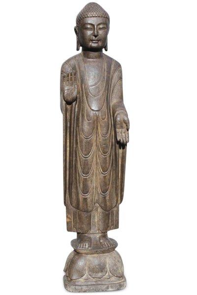 Garten Buddha Statue mit Schutz Gestus