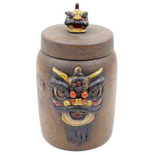 Chinesische Reichtum Vase - Tian Lu Löwe - Keramik