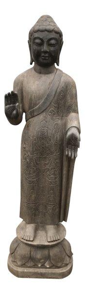 Großer Natur Stein Buddha f. Garten