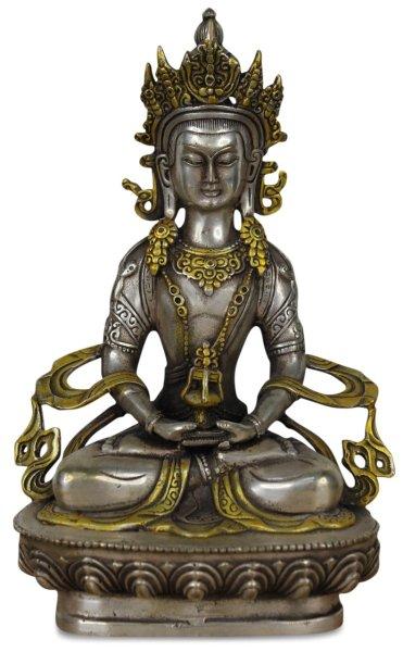 Buddha Figur aus Bronze, Amitayus