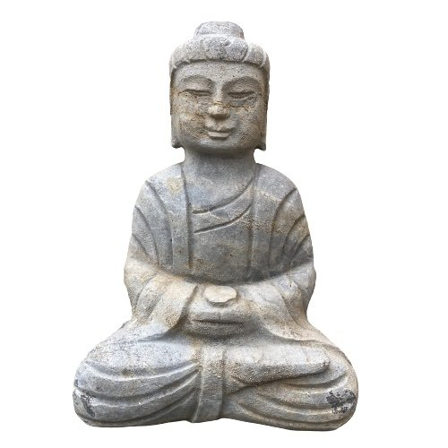 Meditation Garten Buddha Figur (30cm) Naturstein Tibet