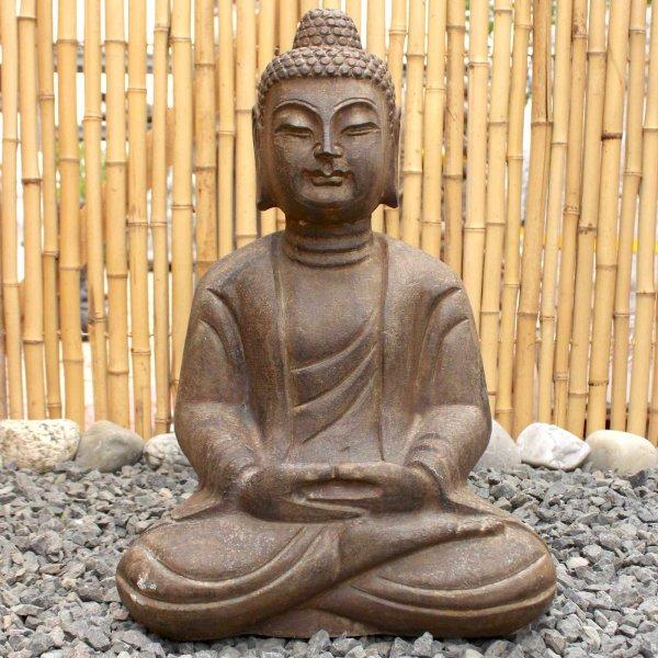 Garten Amitabha Buddha Statue (49cm) Naturstein Figur