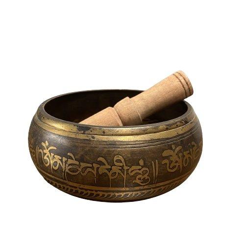Traditionelle Tibet Klangschale700 Gramm - Siddharta Buddha Eye