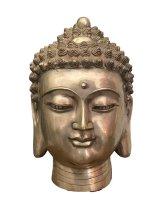 Buddha Kopf Skulptur (43cm) Shakyamuni Bronze Gesicht Statue