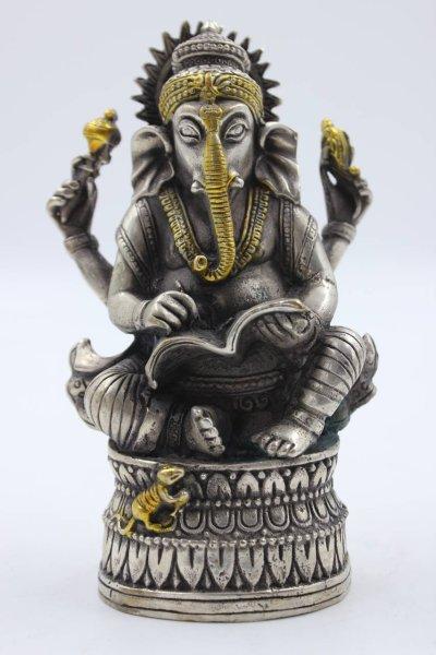Hinduistische Ganesha Figur aus Bronze
