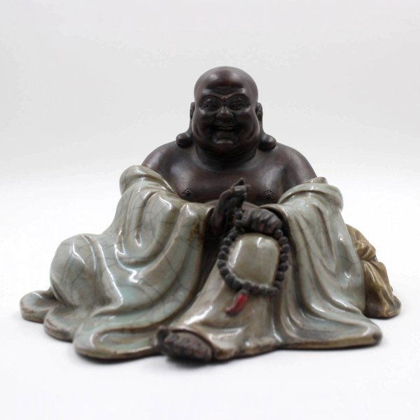 Happy Buddha Figur aus China - Keramik-Porzellan