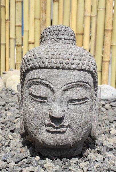 Buddha Kopf aus Naturstein