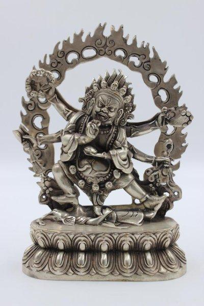 Buddhistische Mahakala Bronze Figur - China