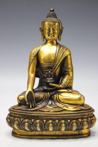 Buddha Figur Bronze, Wunschgewährung