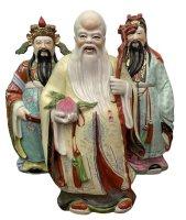 Lu, Fu, Shou Porzellan Figuren - China