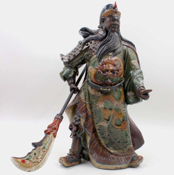 Chinesischer Kwan Kong (43cm) Porzellan / Keramik Figur