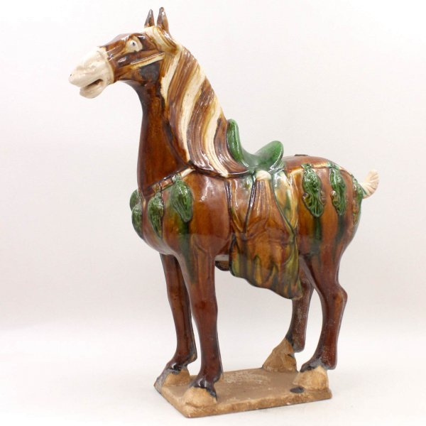 Terrakotta Tang Pferd (40,5cm) Chinesische Ton Figur