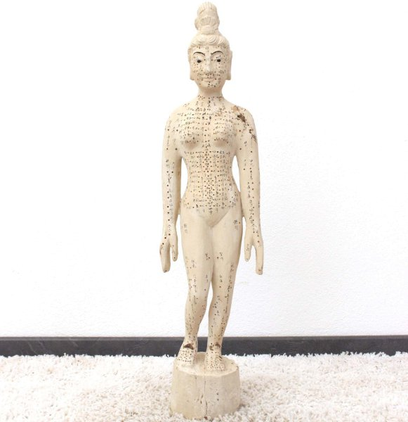 Chinesische Medizin Akupunkturpuppe (81cm) Holz Figur
