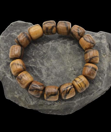 Buddhistische Handmala aus Tamarindenholz