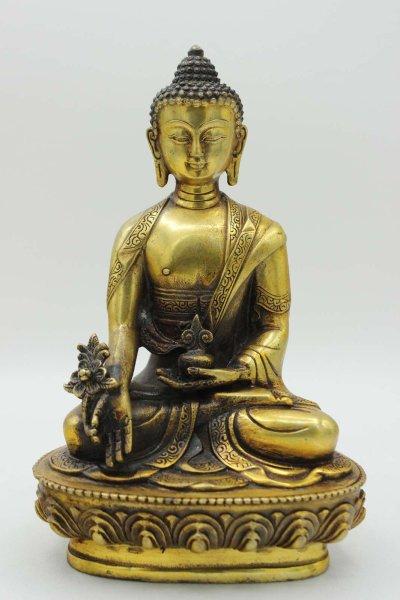 Buddhistischer Medizin Buddha - Bronze Figur aus China