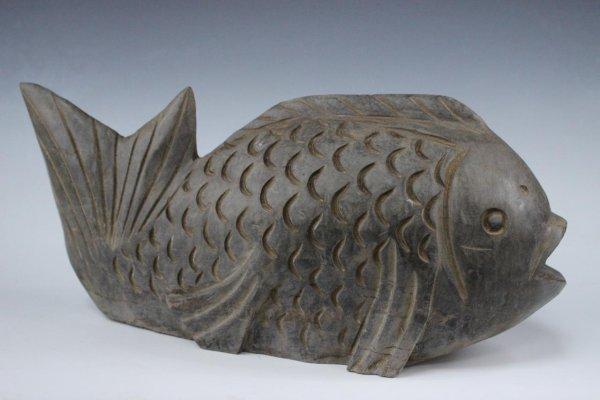 Koi-Fisch Wasserpeier aus Naturstein