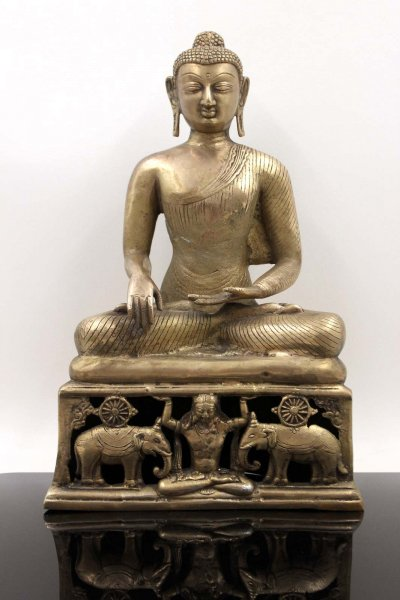 Siddharta Gautama Buddha (37cm) Shakyamuni Kupfer Bronze