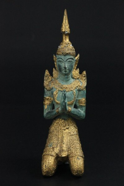 Tempelwächter Bronze-Figur aus Thailand