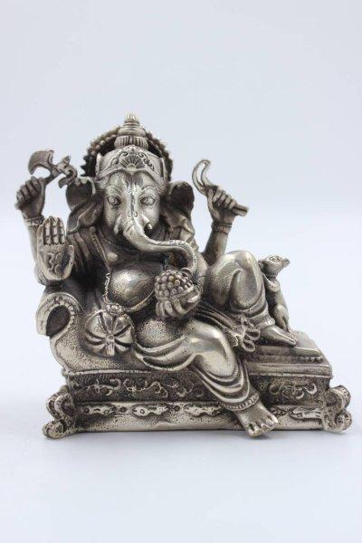 Ruhende Ganesha Bronze Figur
