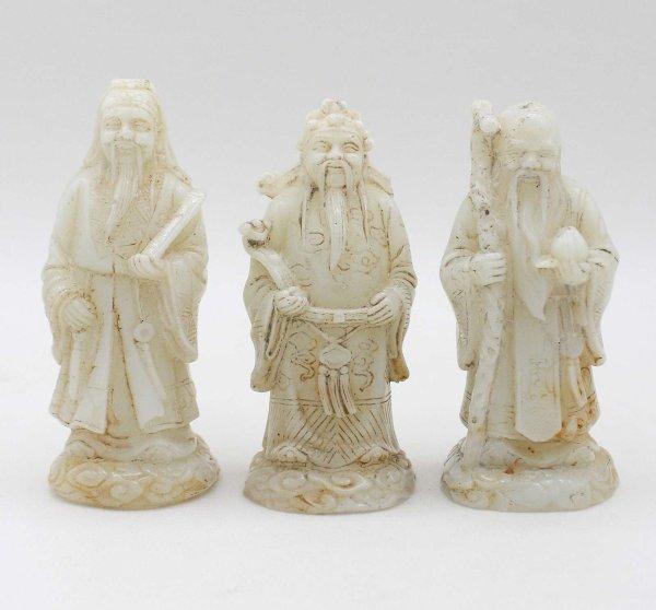 Lu Fu & Shou Hetian Jade Figuren aus China