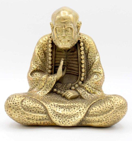 Buddhistischer Mönch (13cm) Bronze Bodhidharma Figur