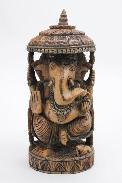 Ganesha Figur aus Mango Holz - 28cm