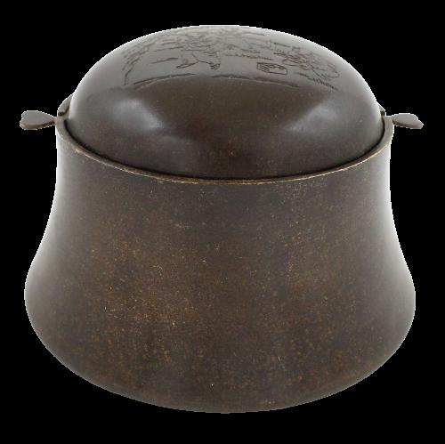 Bronze Räuchergefäß (14cm) Chinesischer Aschenbecher