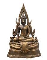 Buddha Figur Thailand (29cm) Siddharta Bronze