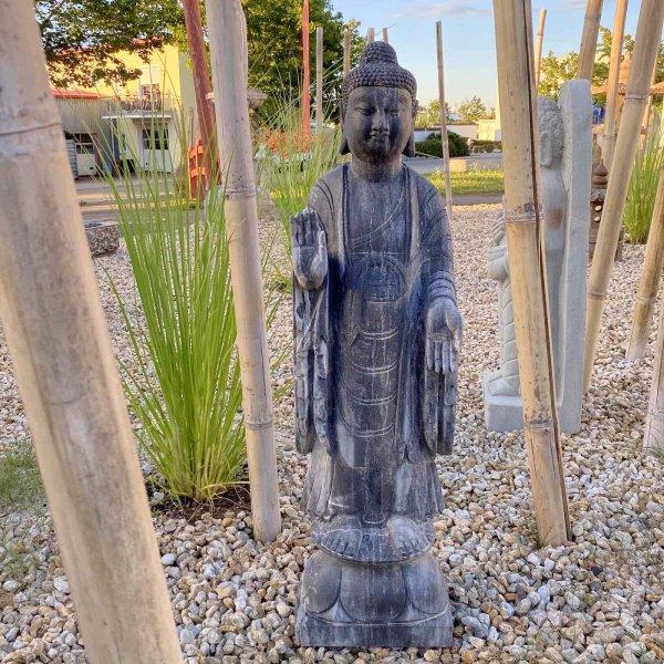 Garten Buddha (100cm) Statue aus Naturstein - handarbeit