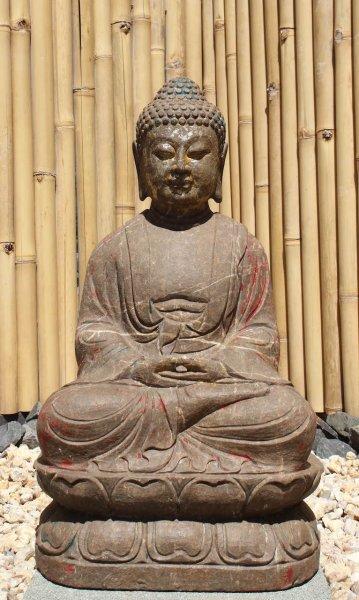 Garten Buddha Statue aus Marmor - 72 cm groß