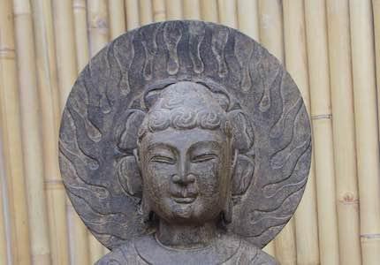 Buddha mit Aureole: für Ihren Garten!