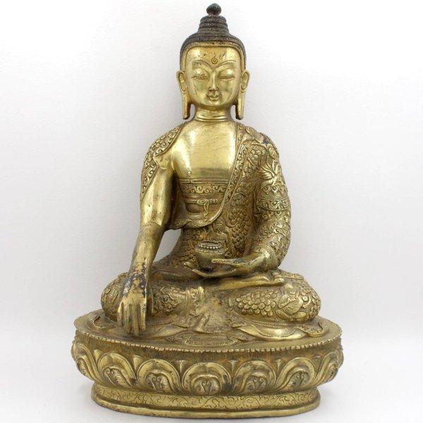 Siddharta Gautama Buddha (31cm) Bronze Shakyamuni Figur