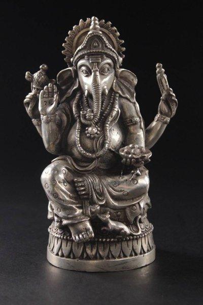 Hinduistische Ganesha Gottheit - Bronze Figur