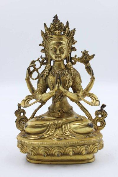 Buddha Chenrezig aus Bronze - China