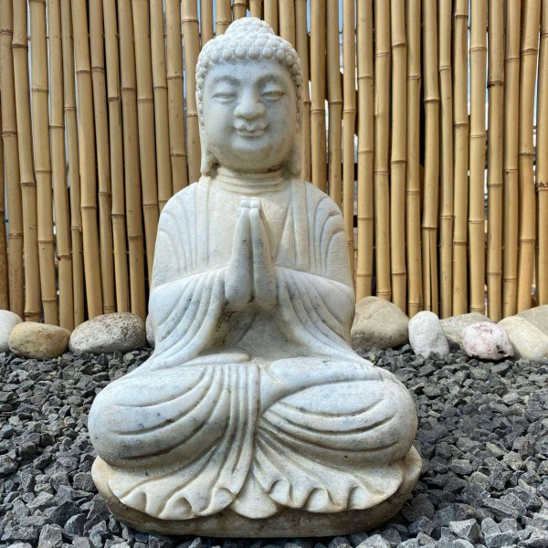 Garten Marmor Buddha (41cm) Namaste Statue
