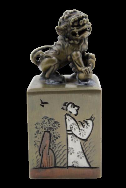 Fu Dog China Siegel Stempel aus Messing