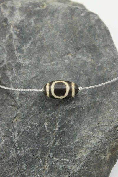 Tibetische Dzi-Stein Halskette Himmel & Erde