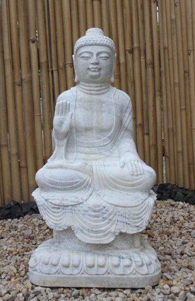 Garten Buddha Statue Marmorstein 100cm