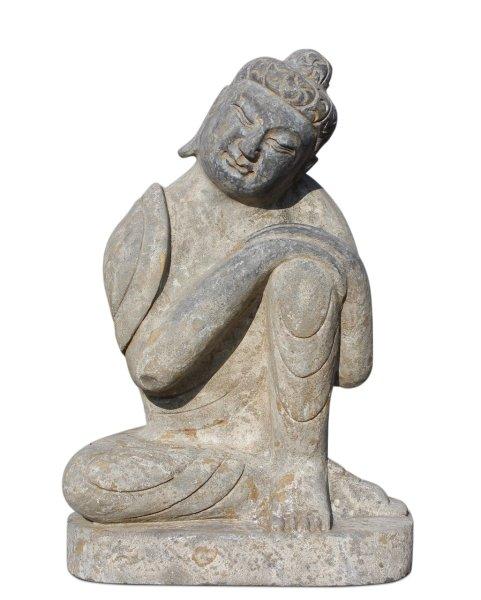 Ruhender Buddha aus Naturstein gefertigt