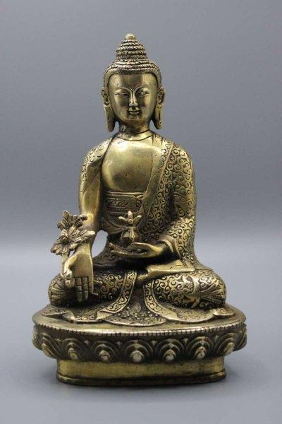 Medizinbuddha aus Bronze